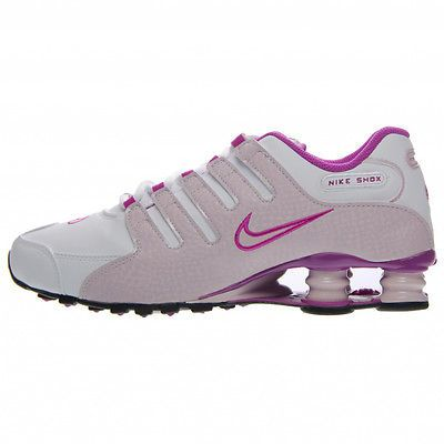 e3d6fe391be7 Nike Shox NZ Womens 636088-114 White Lilac Pink Violet Running Shoes Size 6