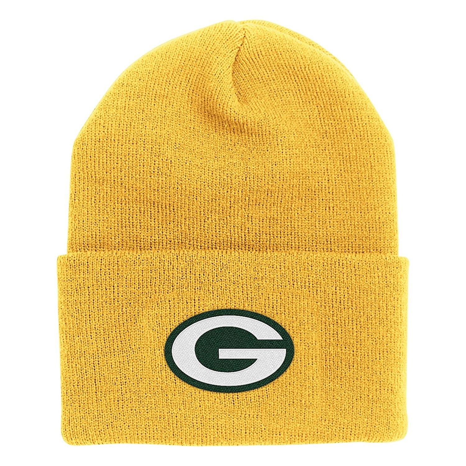 Nfl End Zone Cuffed Knit Hat K010z Green Bay Packers One Size Fits All C6116fj611j Green Bay Packers Clothing Hats Knitted Hats