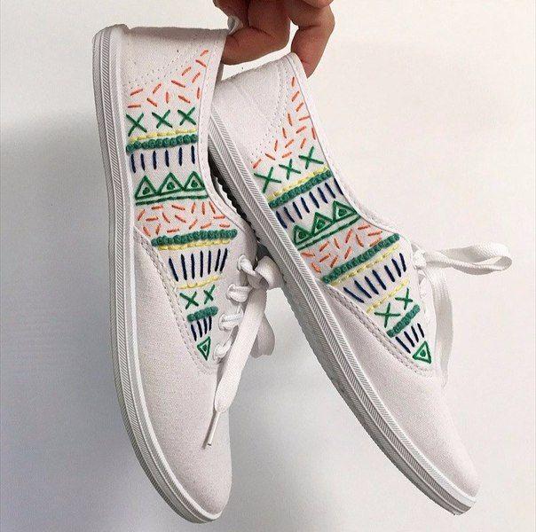 schuhe mit faeden selber dekorieren, schuhe-mit-faeden-selber-dekorieren-dekoking-com | weave | pinterest, Design ideen