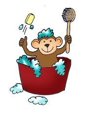 Photography Gallery Sites Monkey With Young One Jpeg Funny Drawings Clipart