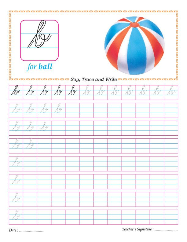 Cursive small letter b practice worksheet For the Classroom - free profit and loss worksheet