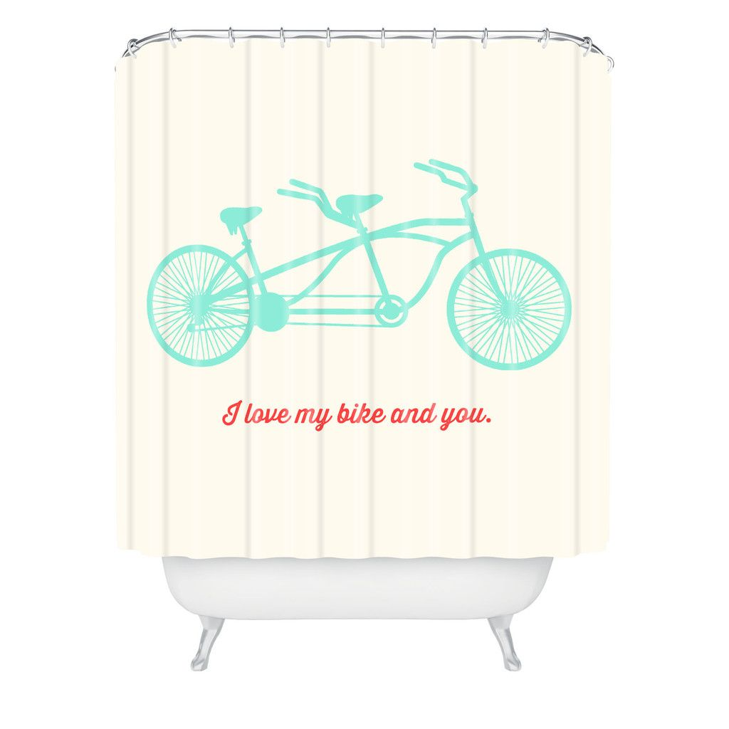 Allyson Johnson My Bike And You Shower Curtain For The Home Curtains House Design Retro Bathrooms