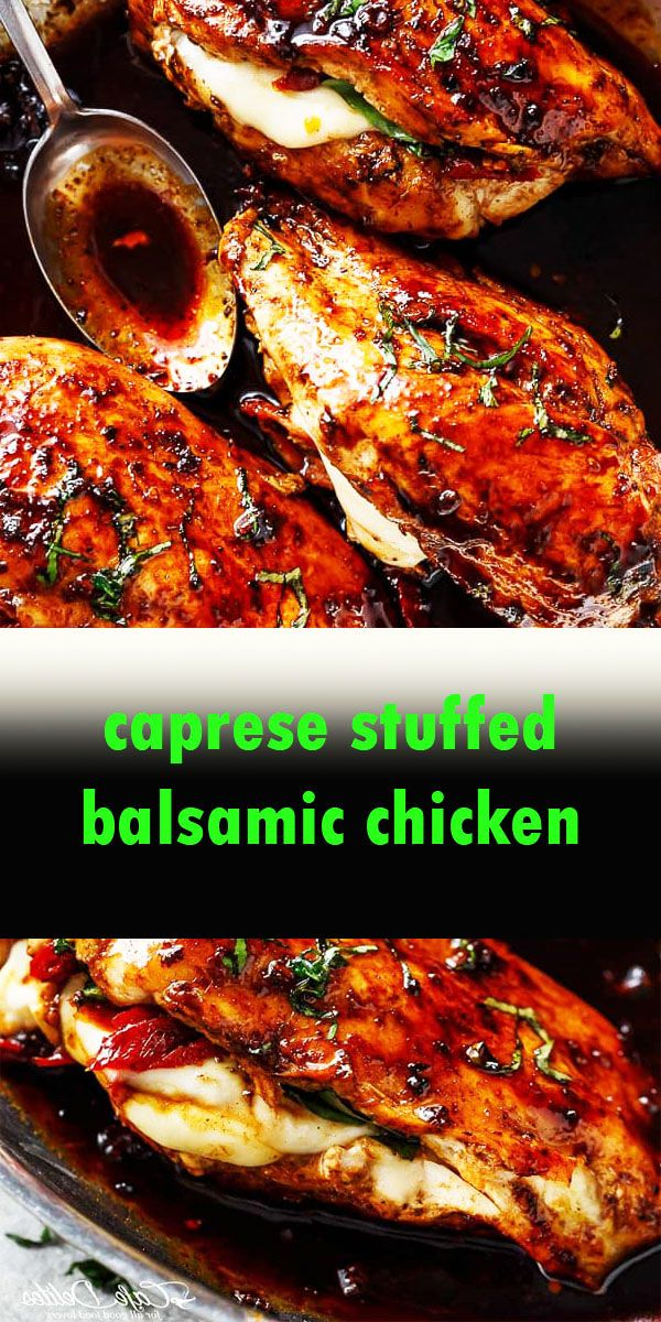 CAPRESE STUFFED BALSAMIC CHICKEN RECIPE #chickenbreastrecipeseasy
