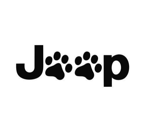 puppy paw print jeep logo die cut vinyl decal sticker 6 u0026quot  white ads      smile amazon com  dp