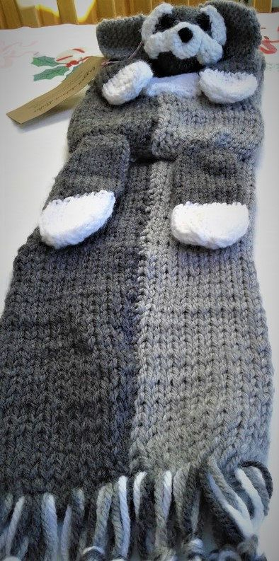 Hand knit Schnauzer Scarf FREE SHIPPING see info by ...