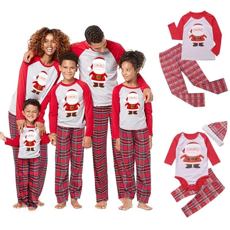 Family Christmas Pajamas Set Matching Clothes Xmas Adult