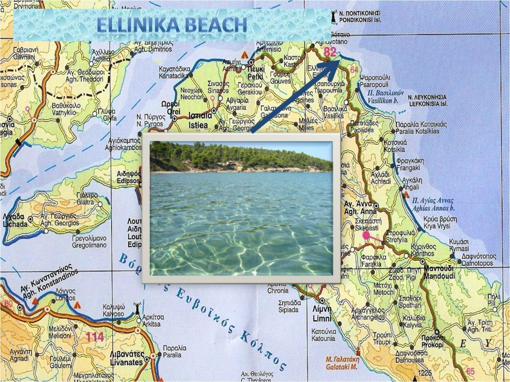 Ellinika Beach map Greece The Island of Evia Pinterest