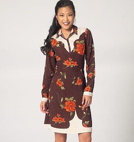 Western-wear dress sewing pattern from Kwik Sew. K4133, Misses ...