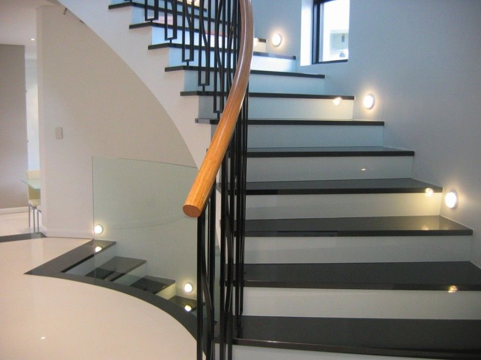Captivating Home Interior With Indoor Stair Railing Kits From Lowes Stairway Lighting Staircase Lighting Ideas Stairs Design