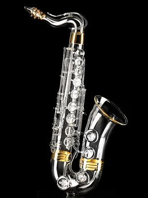 world 39 s most expensive saxophone completely handmade with a glass plated exterior finished with. Black Bedroom Furniture Sets. Home Design Ideas