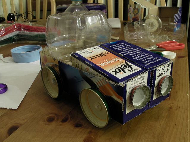 recycled car recycled school projects craft and jar