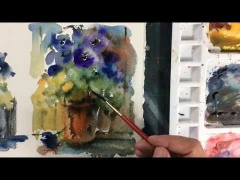 Loose Watercolours With Andrew Geeson Pot Of Joy Youtube