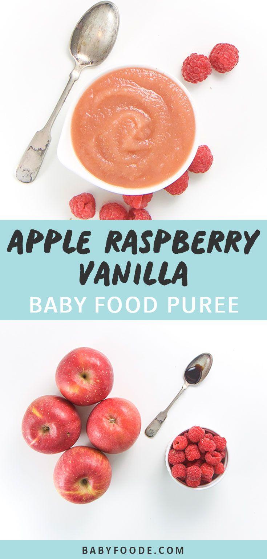 Apple, Raspberry + Vanilla Baby Food Puree (antioxidant) - Baby Foode