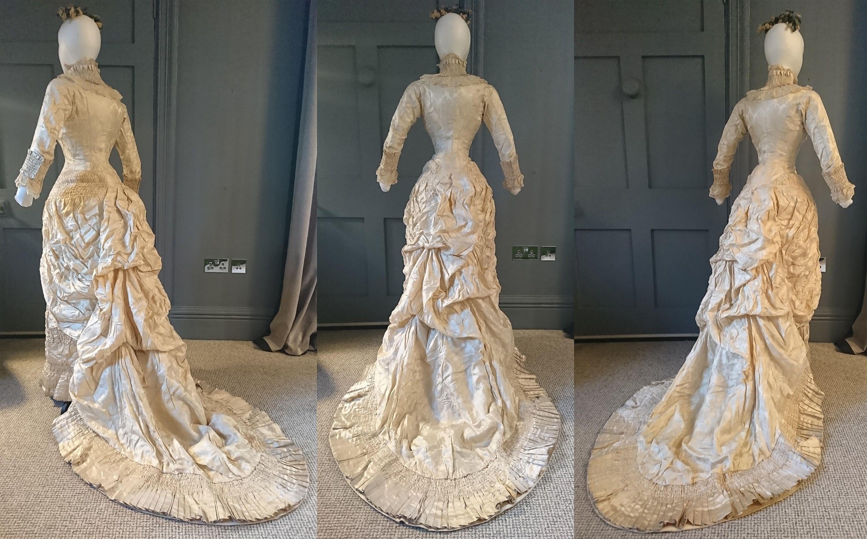 Superb 1880s Natural Form ' Waterfall ' Princess Bustle