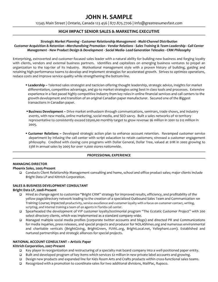 Director Executive resume, Manager resume, Sales resume