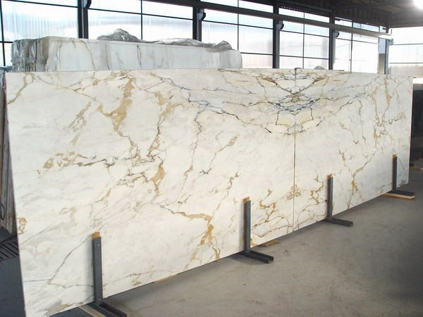 Calacatta Oro Marble Slabs Bookmatch Golden Vein Italian Personal
