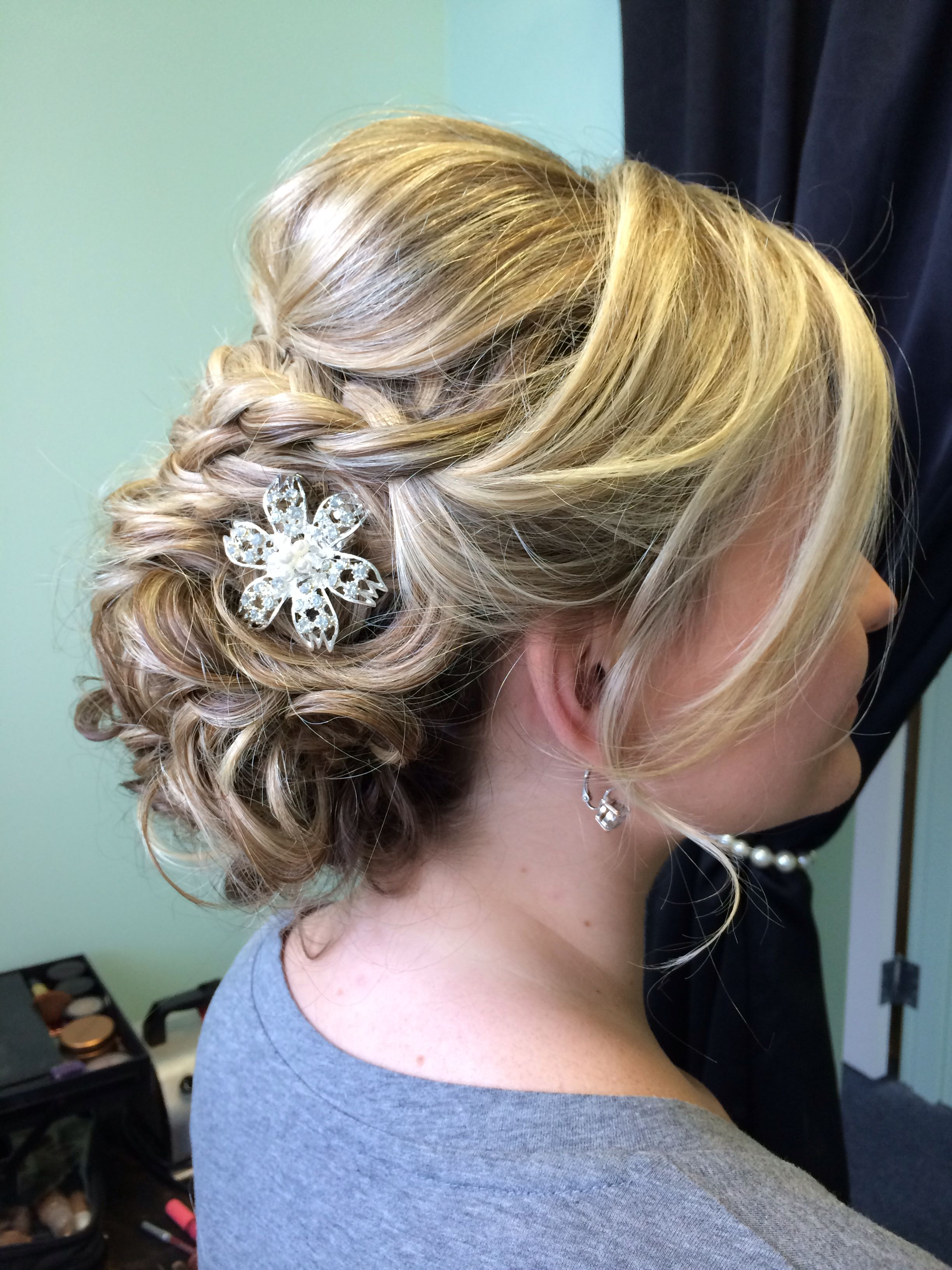 Braided romantic up-do by Jennette at Beauty Couture Inc