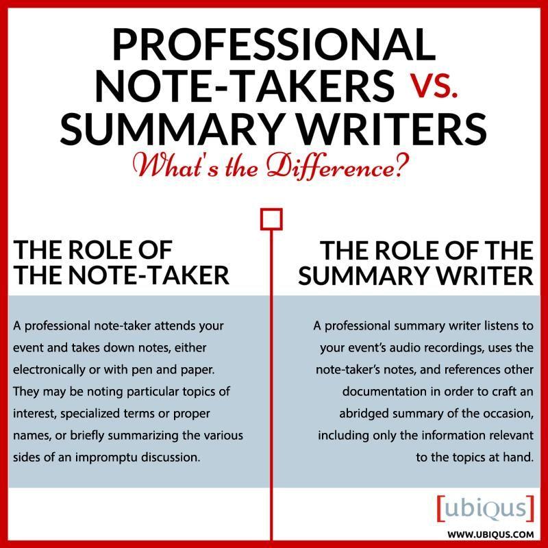 Professional-Note-Taking-Summary-Ubiqus-NY-CA-USAjpg Writing - writing a professional summary