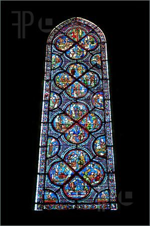 chartres cathedral stained glass | Picture of Chartres cathedral stained glass