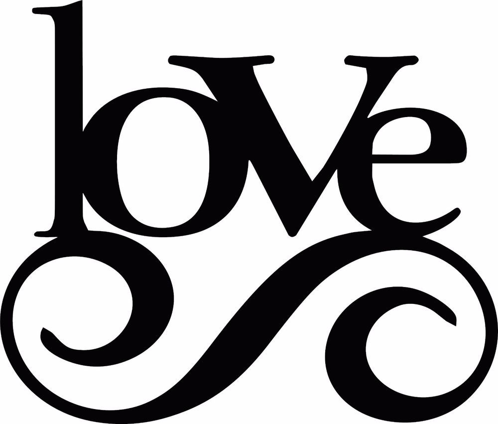Love Quote Vinyl Art Word Wall Sticker Car Truck Logo