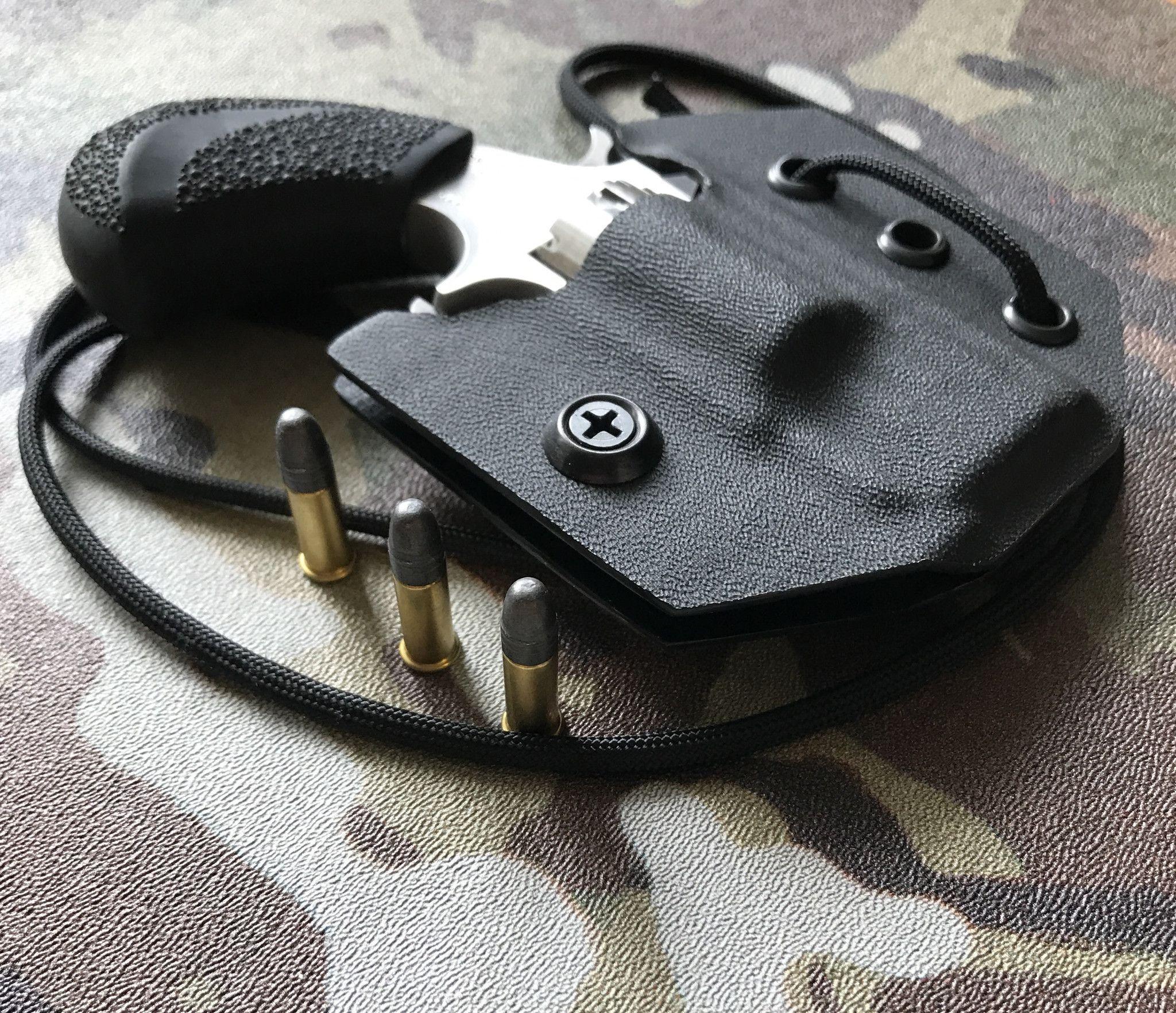PUG Black Carbon Fiber Kydex Neck Holster For NAA .22 MAG