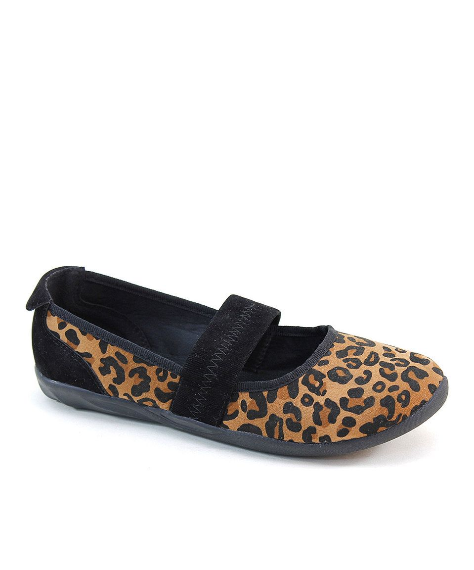 Loving this Tan Leopard Flat on #zulily! #zulilyfinds