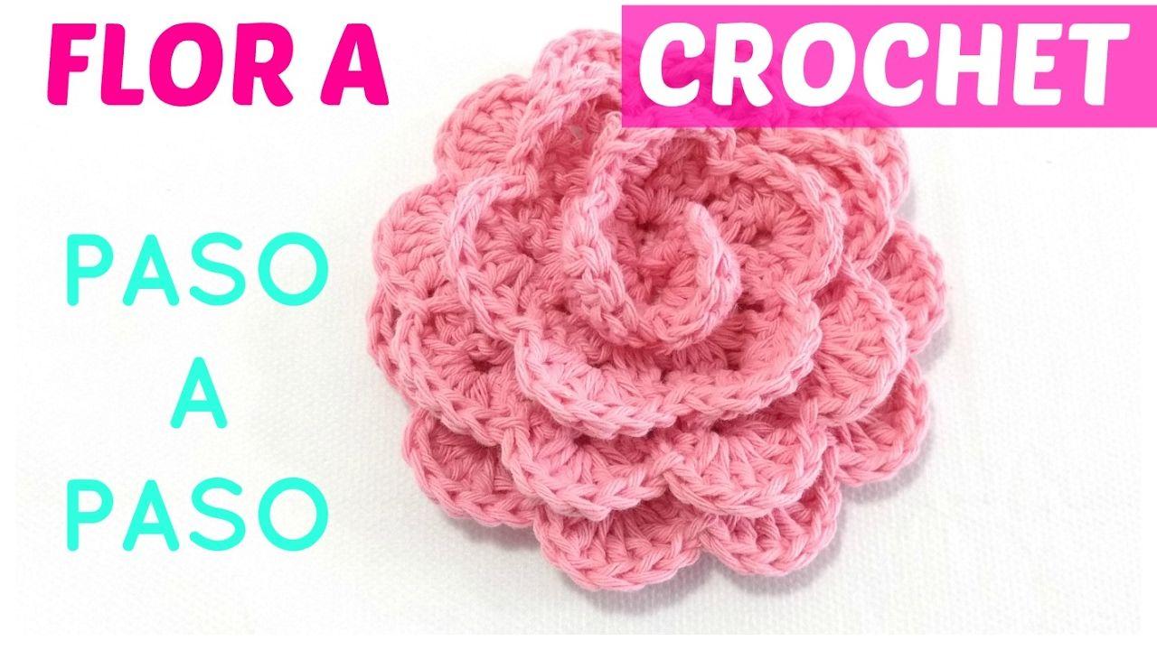 Flor a crochet paso a paso sin perder detalle ENGLISH subtitles ...