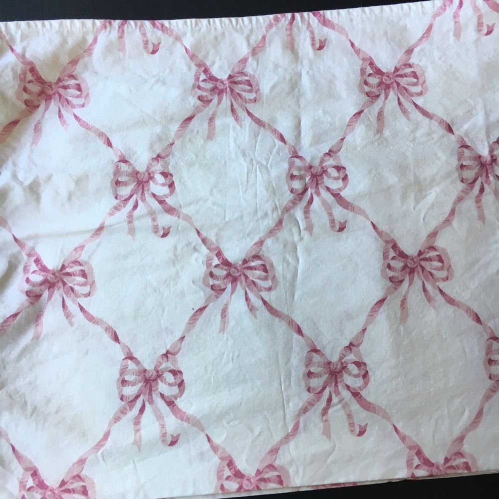 Waverly Curtain Valance Pink Ribbons Bows Shabby Cottage 38 X 15 Lined Ebay Waverly Curtains Waverly Bedding Valance Curtains