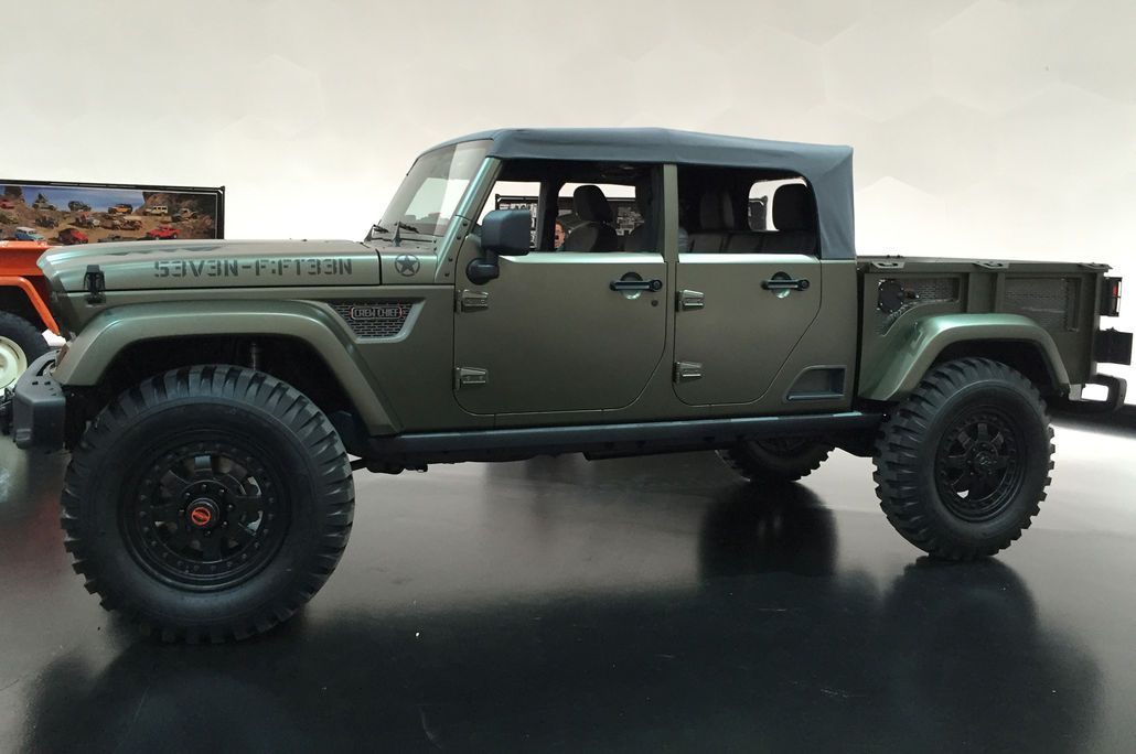 2016 Easter Jeep Safari Concepts Motor Trend Jeep Wrangler Pickup Jeep Truck Jeep Concept