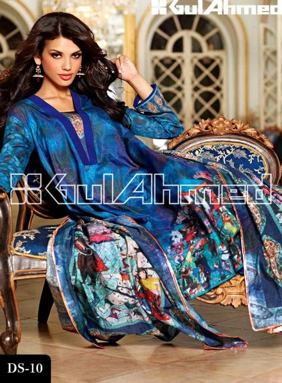Gul Ahmed Fall Winter Dresses Collection 2013 For Girls