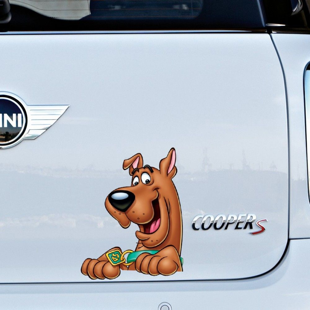 Scooby Doo Full Colour Vinyl Decal Window Sticker Car Bumper Gift Present Funny Vinyl Decals Car Bumper Scooby Doo [ 1000 x 1000 Pixel ]