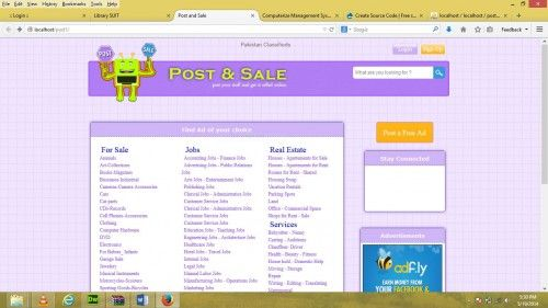 Online classified website (like OLX) in PHP | Free website templates ...