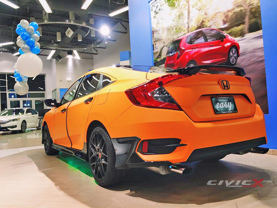 Modified 2016 Civic Sedan By Berlin City Honda 2016 Honda Civic Forum 10th Gen Type R Forum Si Forum Honda City Honda Civic Honda Civic Coupe