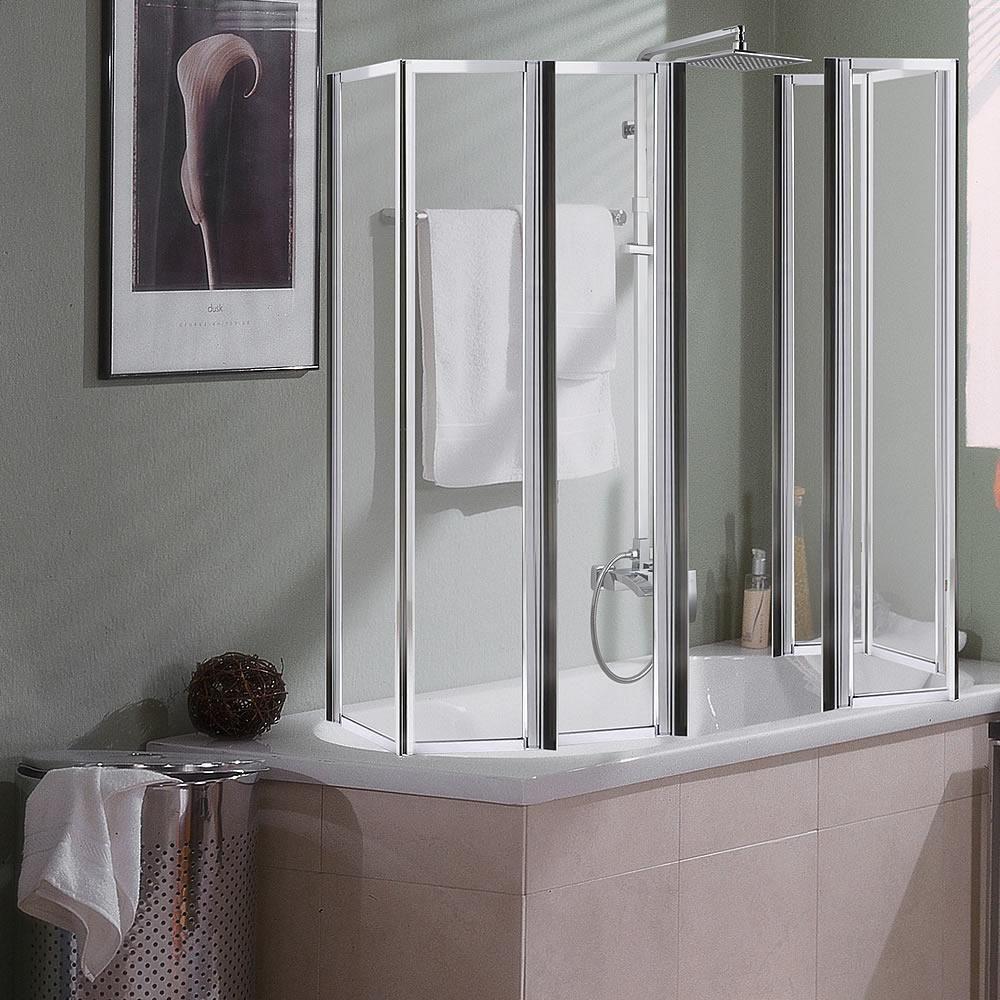 Badewannenaufsatz Trennwand Dusche Duschabtrennung Duschkabine