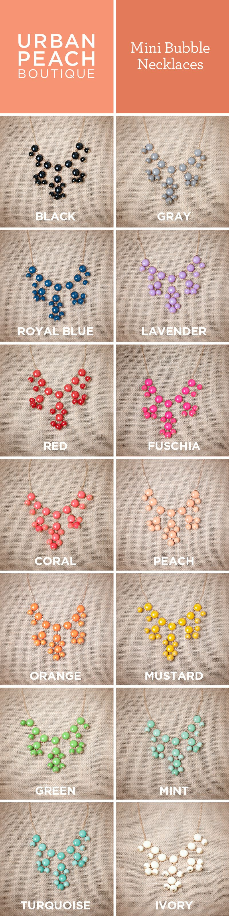 Mini Bubble Necklaces! Tons of colors!! ONLY $9.95 for a limited time only!!!