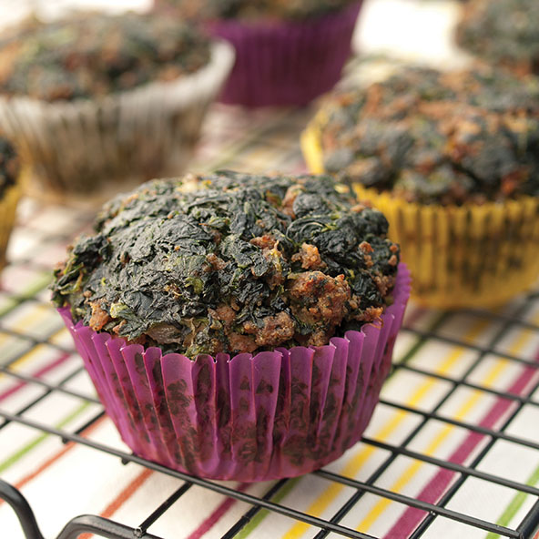 Meat & Spinach Muffins