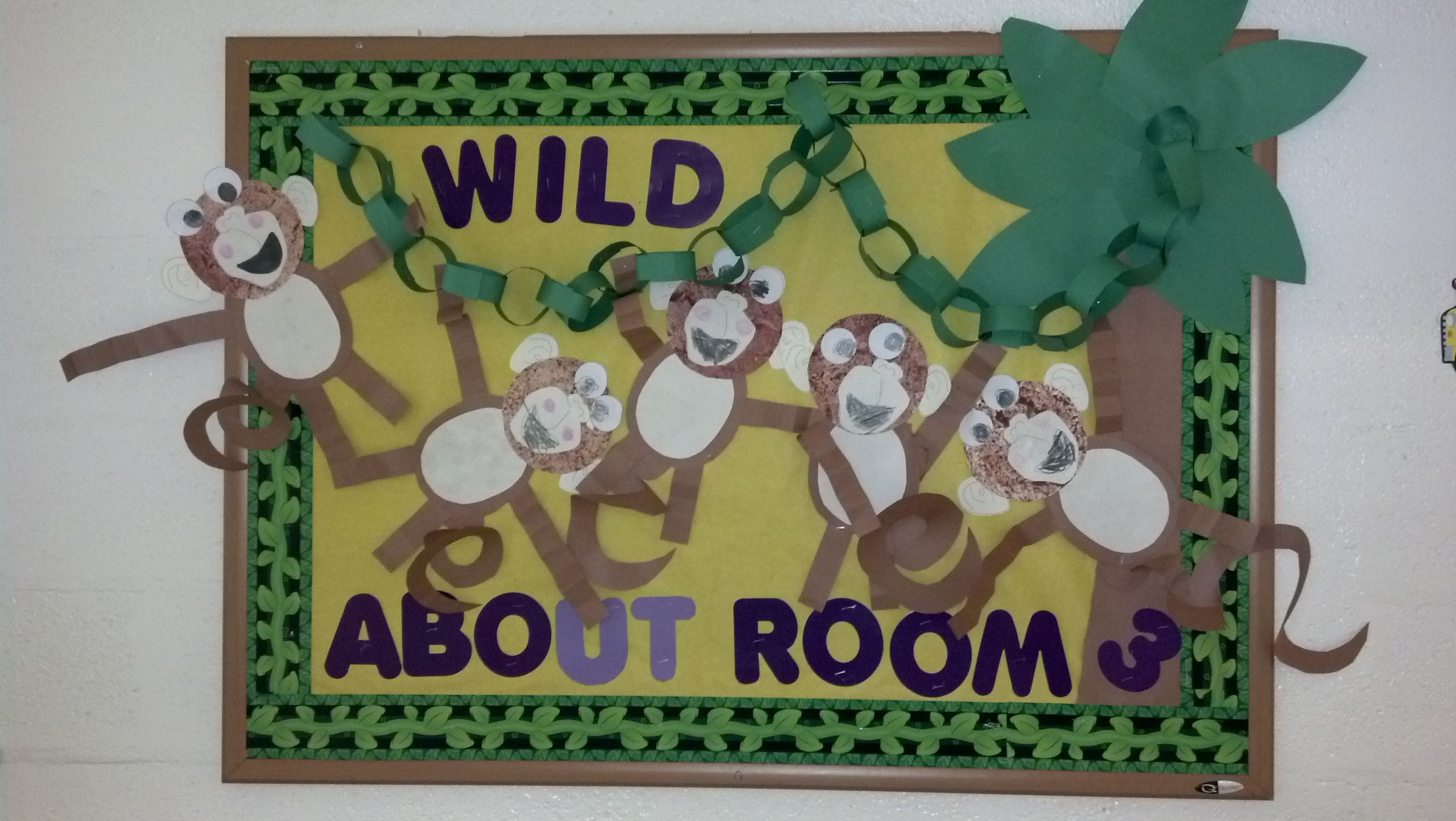 "bulletin board ""wild about room 3"" my monkey bulletin"