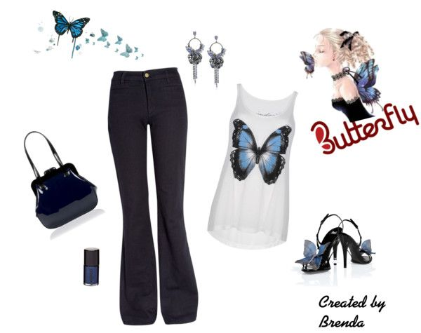 """Butterflies are Free"" by brendariley-1 on Polyvore"