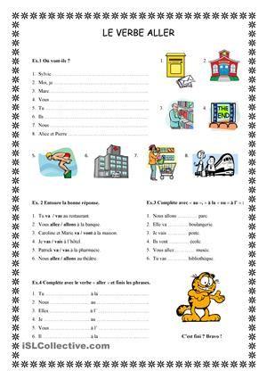 le verbe aller test pdf