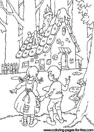 Download free printable Hansel and Gretel_2 coloring pages ...