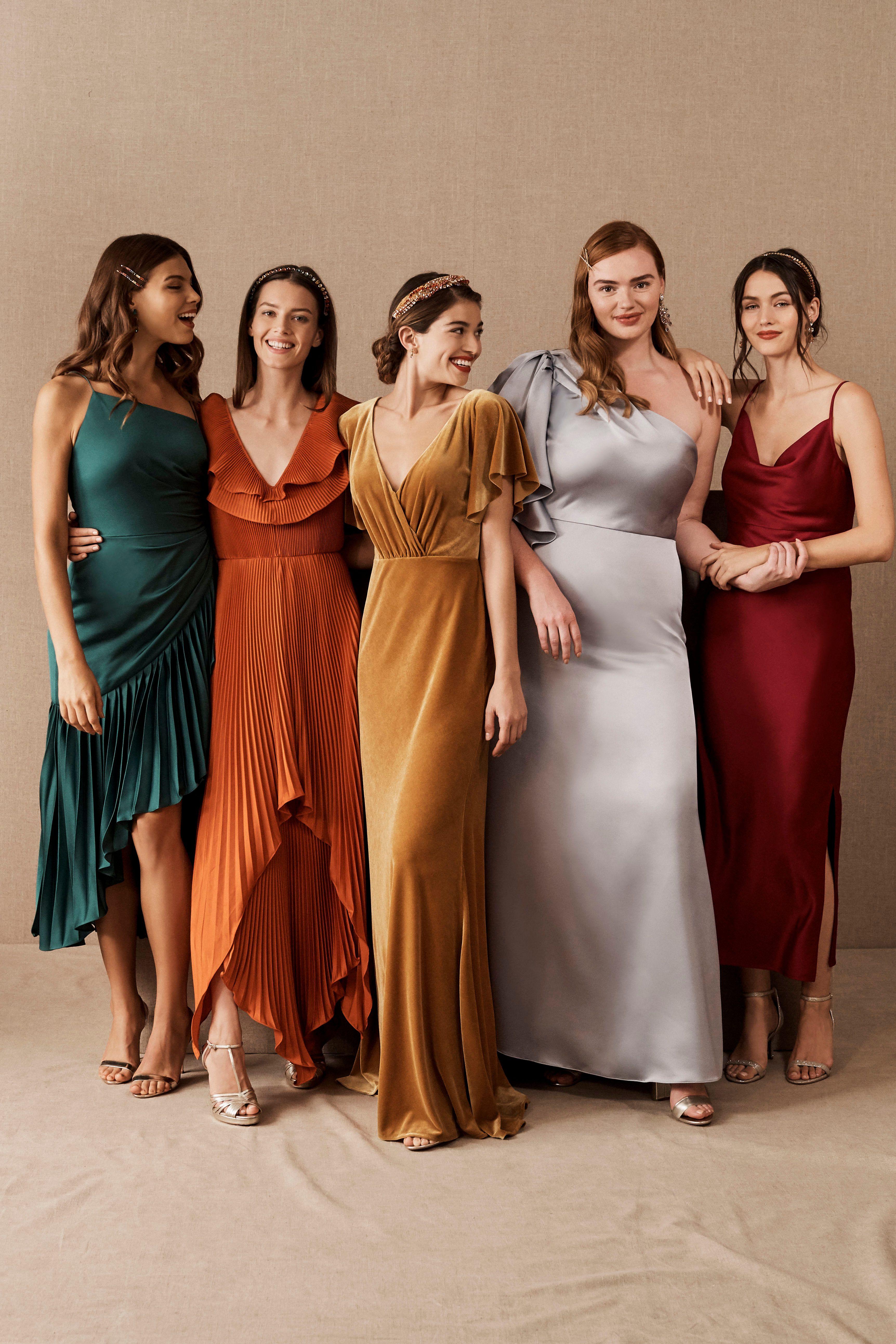 4 Perfect Mix Match Bridesmaid Palettes Mix Match Bridesmaids Dresses Mix Match Bridesmaids Fall Bridesmaid Dresses