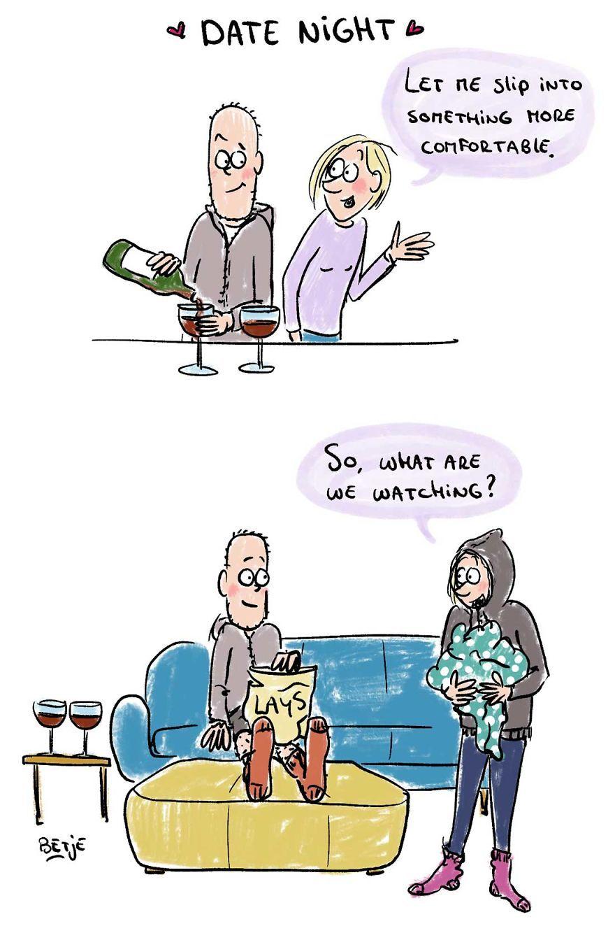 Date Night Parenting humor, Funny parenting memes, Comics