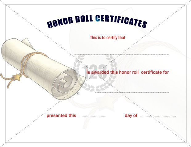 honor roll certificate template word