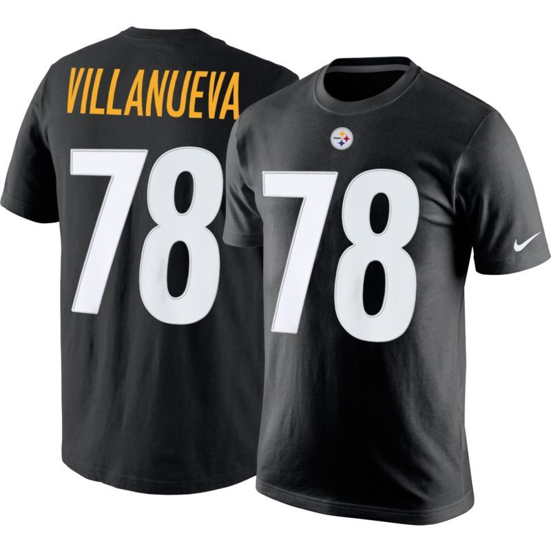 huge discount 5a2a2 a8132 Nike Men's Pittsburgh Steelers Alejandro Villanueva #78 ...