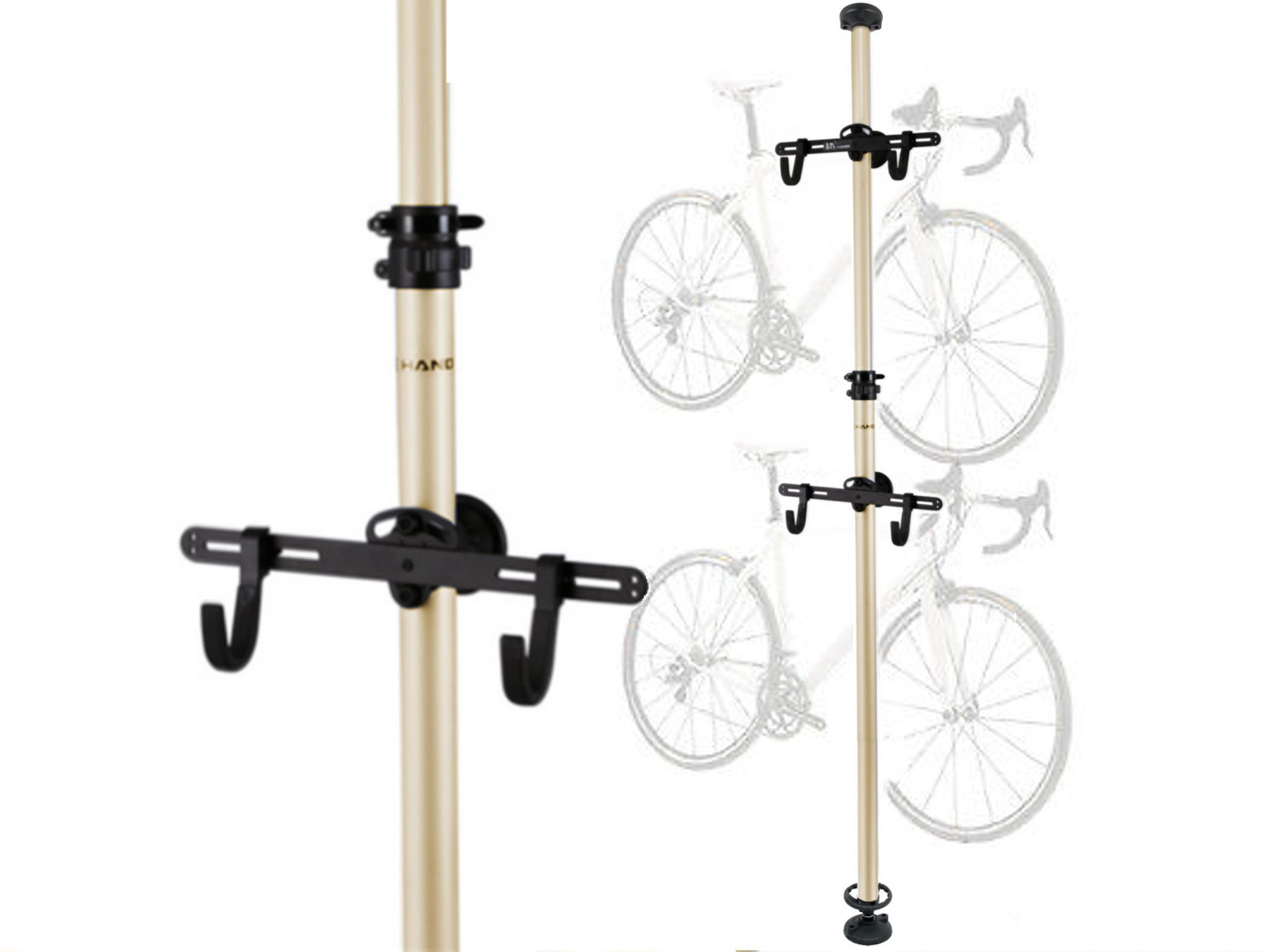 Floor To Ceiling Aluminium Alloy Bike Rack Telescopic Bike