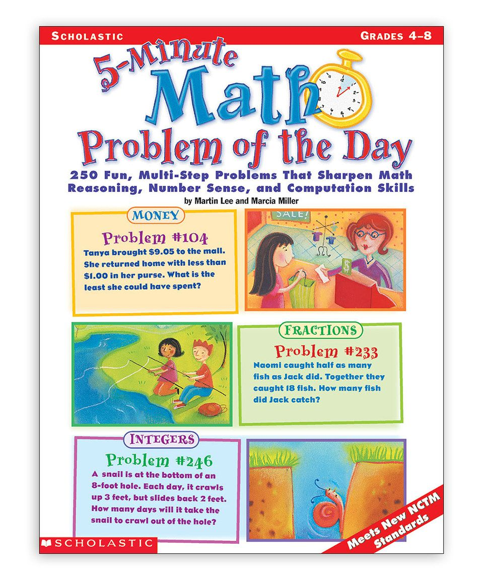 Take a look at this Grade 4-8 Five-Minute Math Problem of