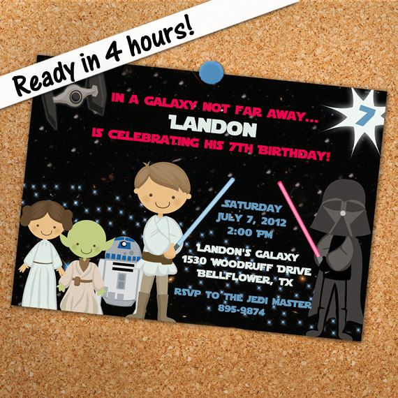 Star Wars Invitation Printable Personalized Party. $14.00, Via Etsy. |  Party Ideas | Pinterest | Star Wars Invitations, Star Wars Party And Star  Wars ...