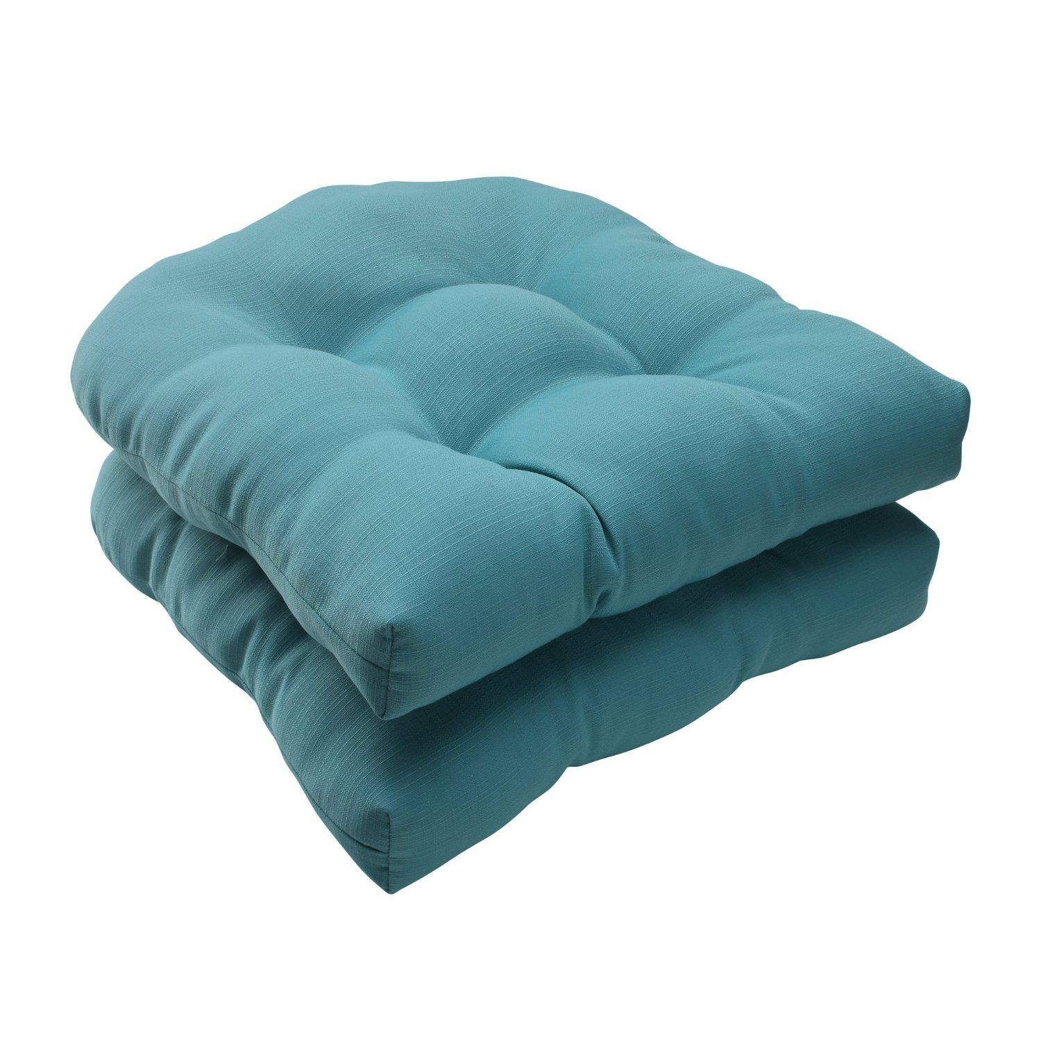 Amazon.com   Pillow Perfect Indoor/Outdoor Forsyth Wicker Seat Cushion,  Turquoise,