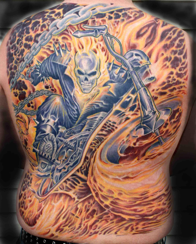 kari barba ocean tattoos ghost rider tattoo gallery