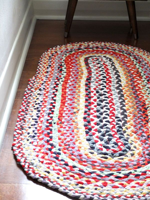 Upcycle Style Braided T Shirt Rug Great Way To Repurpose Fabrics Just Like